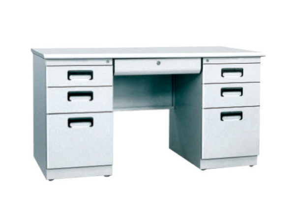 Double Cabinet Steel Office Table